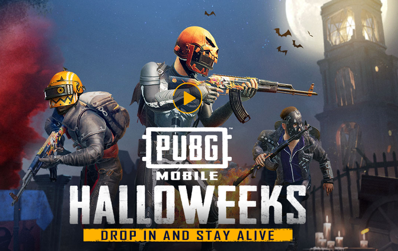 Pubg Mobile Update 0 9 0 Adds Halloween Skins Night: PUBG Mobile Halloweeks Tournament Started: Haunted
