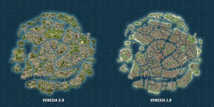 PUBG Venezia map size & locatiosn