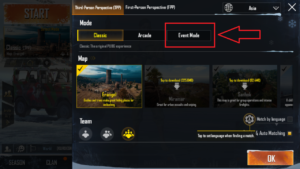 Select Map in PUBG Mobile