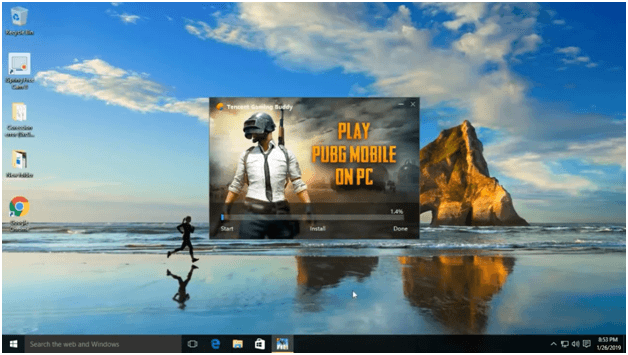 download EXE file of the PUBG emulator