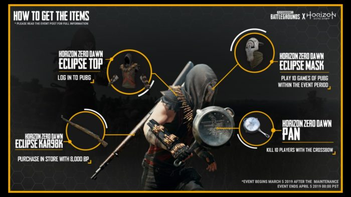 HZD items on PUBG PS4