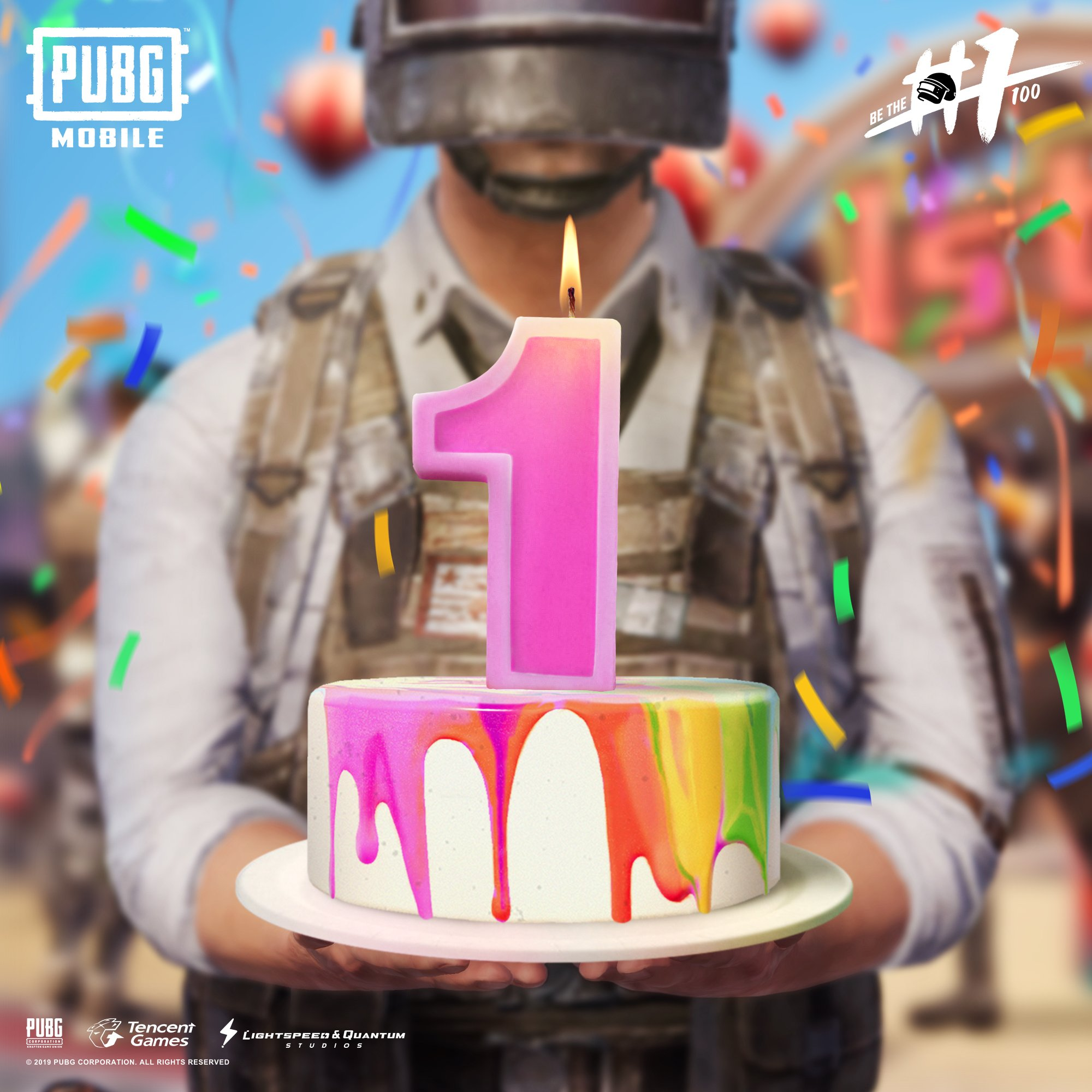 Happy Birthday PUBG Mobile Wallpaper