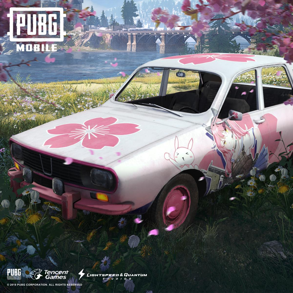 Sakura Dacia PUBG car wallpaper