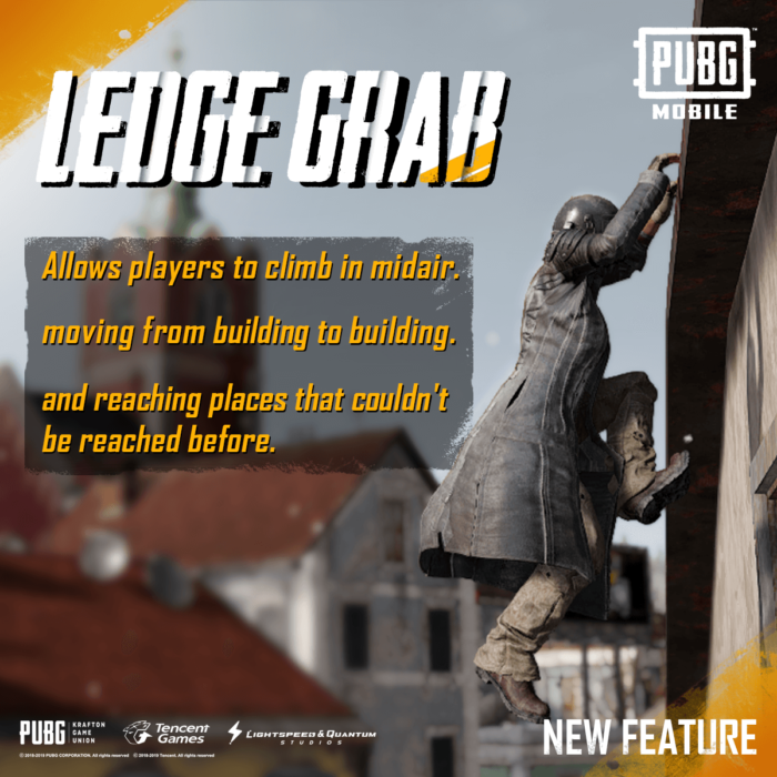 PUBG Mobile 0.15.0 ledge grab