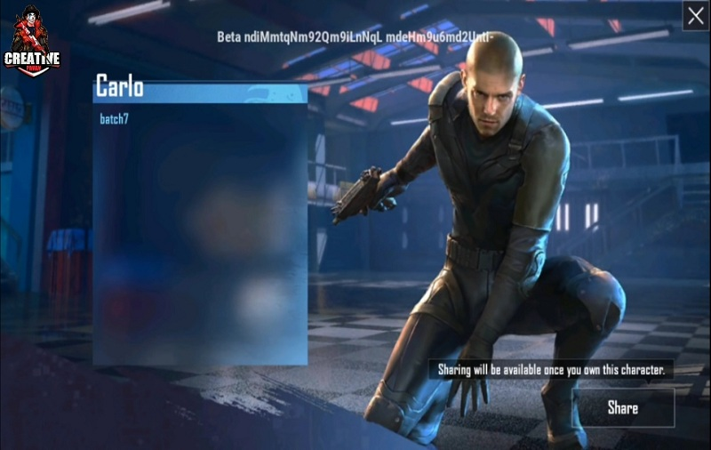 PUBG Mobile New Character Carlo