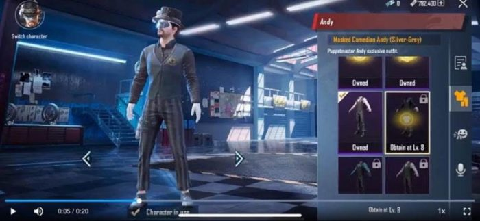 PUBG Mobile Andy