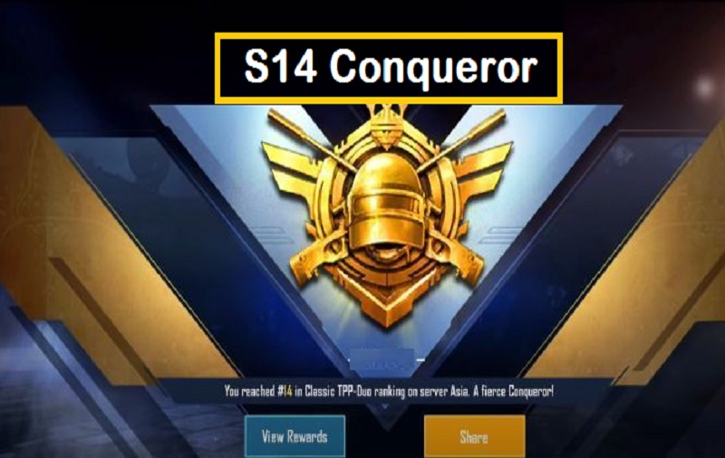 Conqueror in Season 14 PUBG Mobile